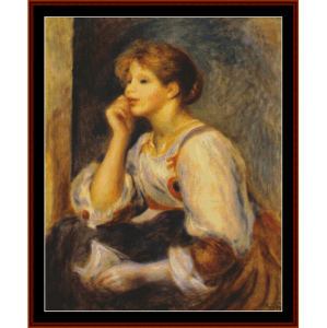 Girl with a Letter, 1894 - Renoir cross stitch pattern by Cross Stitch Collectibles | Crafting | Cross-Stitch | Other