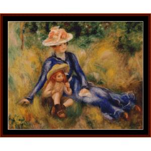 Yvonne and Jean, 1899 - Renoir cross stitch pattern by Cross Stitch Collectibles | Crafting | Cross-Stitch | Other