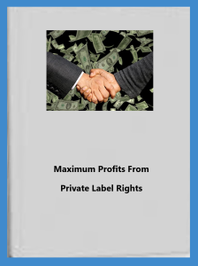 Maximum Profits From  Private Label Rights | eBooks | Business and Money