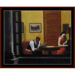 room in new york - hopper cross stitch pattern by cross stitch collectibles