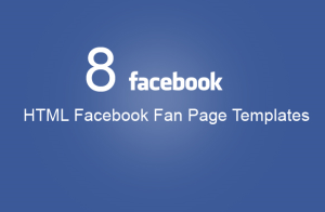 8 facebook fanpage templates