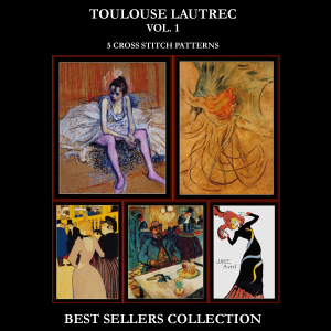 Toulouse Lautrec Best Sellers Collection cross stitch patterns by Cross Stitch Collectibles | Crafting | Cross-Stitch | Other