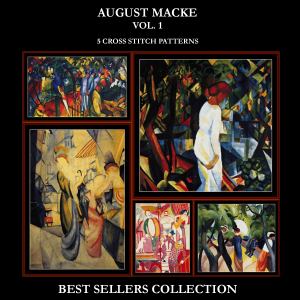 August Macke Best Sellers Collection cross stitch patterns by Cross Stitch Collectibles | Crafting | Cross-Stitch | Other