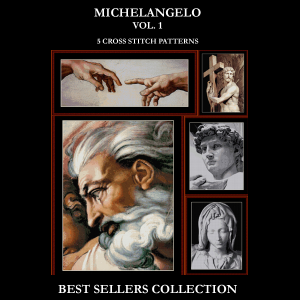 Michelangelo Best Sellers Collection cross stitch patterns by Cross Stitch Collectibles | Crafting | Cross-Stitch | Other