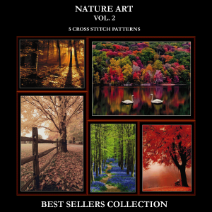 nature best sellers collection vol. 2 cross stitch patterns by cross stitch collectibles