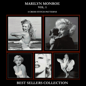 Marilyn Monroe Best Sellers Collection cross stitch patterns by Cross Stitch Collectibles | Crafting | Cross-Stitch | Other