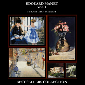 manet best sellers collection cross stitch patterns by cross stitch collectibles