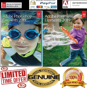 Adobe Photoshop and Premiere Elements 2019 Full Genuine (PC DOWNLOAD) | Software | Design