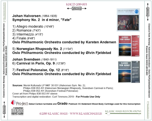 First Additional product image for - Music of Halvorsen & Svendsen - Oslo Philharmonic Orchestra
