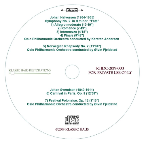 Second Additional product image for - Music of Halvorsen & Svendsen - Oslo Philharmonic Orchestra