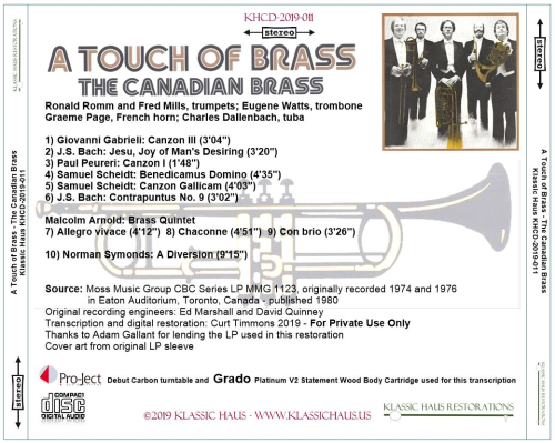 First Additional product image for - A Touch of Brass - The Canadian Brass