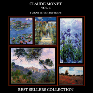 Monet Best Sellers Collection Vol. 3  cross stitch patterns by Cross Stitch Collectibles | Crafting | Cross-Stitch | Other