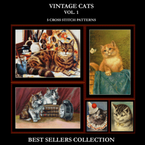 Vintage Cats Best Sellers Collection cross stitch patterns by Cross Stitch Collectibles | Crafting | Cross-Stitch | Other