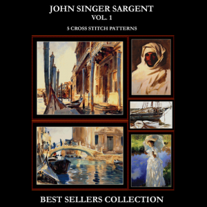 John Singer Sargent Best Sellers Collection cross stitch patterns by Cross Stitch Collectibles | Crafting | Cross-Stitch | Other