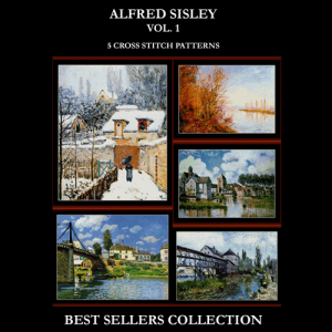 alfred sisley best sellers collection cross stitch patterns by cross stitch collectibles