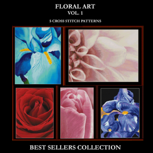 Floral Best Sellers Collection cross stitch patterns by Cross Stitch Collectibles | Crafting | Cross-Stitch | Other