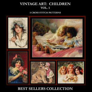 vintage children best sellers collection cross stitch patterns by cross stitch collectibles