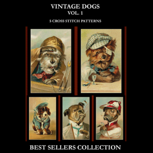 Vintage Dogs Best Sellers Collection cross stitch patterns by Cross Stitch Collectibles | Crafting | Cross-Stitch | Other
