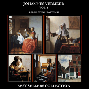 vermeer best sellers collection cross stitch pattern by cross stitch collectibles