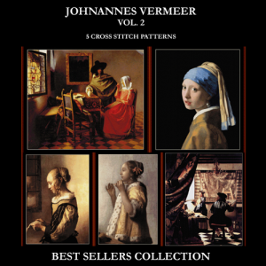 vermeer best sellers collection vol. 2 cross stitch pattern by cross stitch collectibles