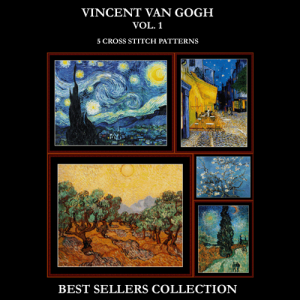 Van Gogh Best Sellers Collection cross stitch patterns by Cross Stitch Collectibles | Crafting | Cross-Stitch | Other