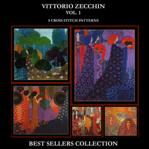 Vittorio Zecchin Best Sellers Collection cross stitch patterns by Cross Stitch Collectibles | Crafting | Cross-Stitch | Other