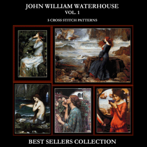 Waterhouse Best Sellers Collection Vol. 1 cross stitch patterns by Cross Stitch Collectibles | Crafting | Cross-Stitch | Other
