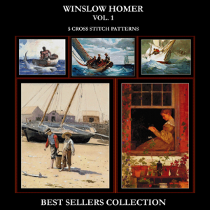 winslow homer best sellers collection vol.. 1 cross stitch patterns by cross stitch collectibles