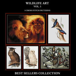 Wildlife Best Sellers Collection Vol. 1 cross stitch patterns by Cross Stitch Collectibles | Crafting | Cross-Stitch | Other