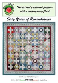 sixty years of remembrances patchwork and applique quilt pattern