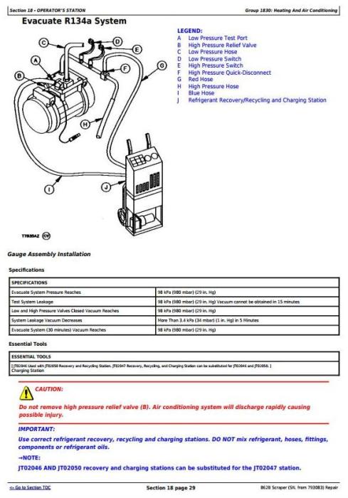 Third Additional product image for - John Deere 862B Scraper (SN. from 793083) Service Repair Technical Manual (tm1570)