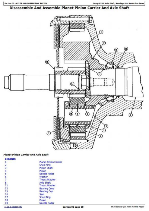 Fourth Additional product image for - John Deere 862B Scraper (SN. from 793083) Service Repair Technical Manual (tm1570)