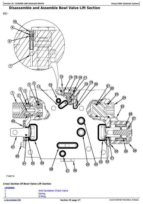Second Additional product image for - John Deere 762B Series II Scraper (SN. 818909-) Service Repair Technical Manual (tm1674)