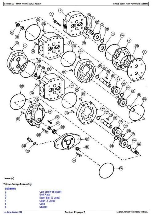 Third Additional product image for - John Deere 862B Series II Scraper (SN. 818323-) Service Repair Technical  Manual (tm1725)