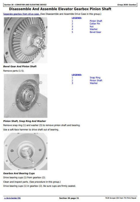 Third Additional product image for - John Deere 762B  (SN from 791764-) Scraper Service Repair Technical Manual (tm1568)