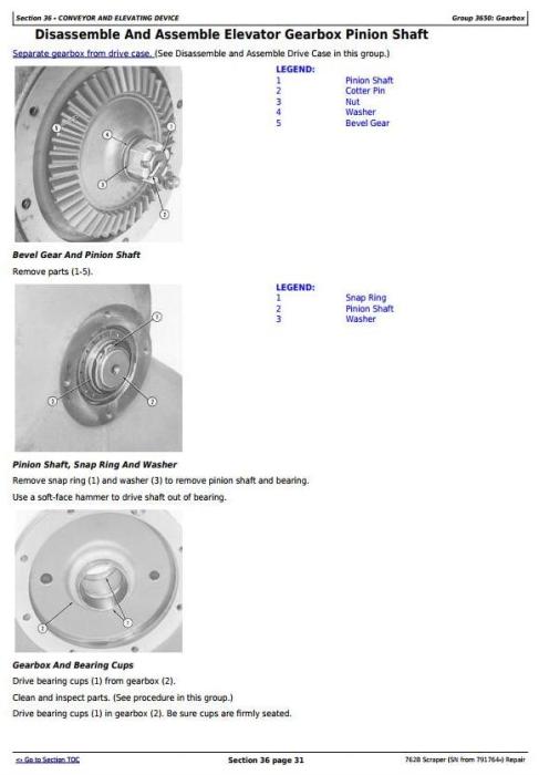 Third Additional product image for - John Deere 762B  (SN from 791764-) Scraper Service Repair Technical Manual (tm1568)