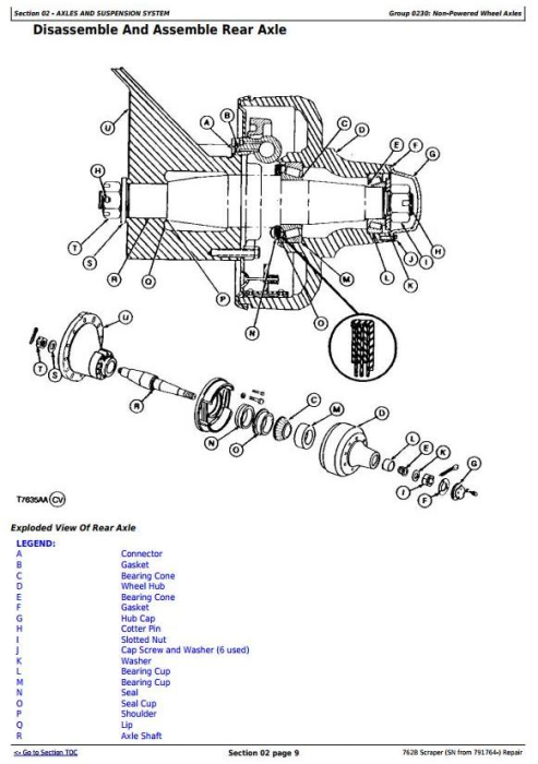 Fourth Additional product image for - John Deere 762B  (SN from 791764-) Scraper Service Repair Technical Manual (tm1568)
