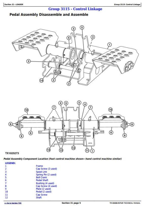 Second Additional product image for - John Deere 313 and 315 Skid Steer Loader; CT315 Compact Track Loader Service Repair Manual (TM10608)