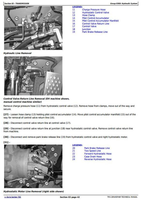 Fourth Additional product image for - John Deere 318D, 319D, 320D, 323D Skid Steer Loader w.Manual Controls Service Repair Manual TM11399
