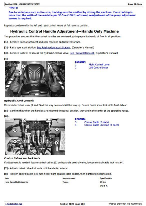 Third Additional product image for - John Deere 326D, 328D, 332D Skid Steer Loader w.Manual Controls Diagnostic Service Manual (TM11430)