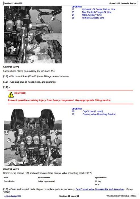 Third Additional product image for - John Deere 326D, 328D, 329D, 332D, 333D Skid Steer Loader w.Manual Controls Repair Manual (TM11431)