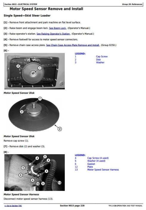 Fourth Additional product image for - John Deere 326D, 328D, 332D Skid Steer Loader w.EH Controls Diagnostic&Test Service Manual (TM11438)