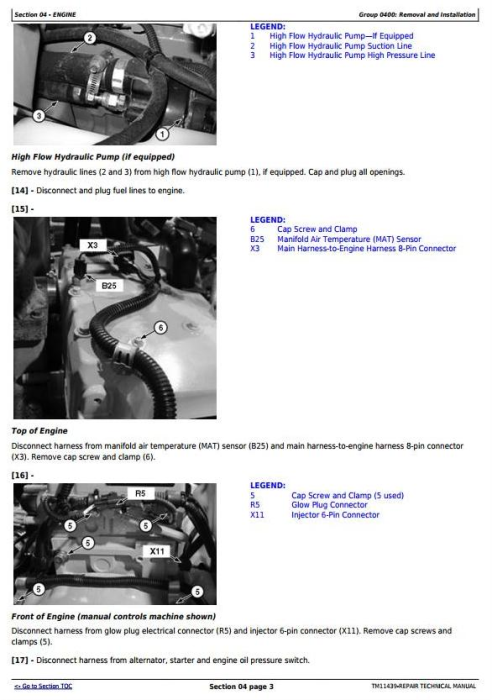 Second Additional product image for - John Deere 326D, 328D, 329D, 332D, 333D Skid Steer Loader with EH Controls Repair Manual (TM11439)