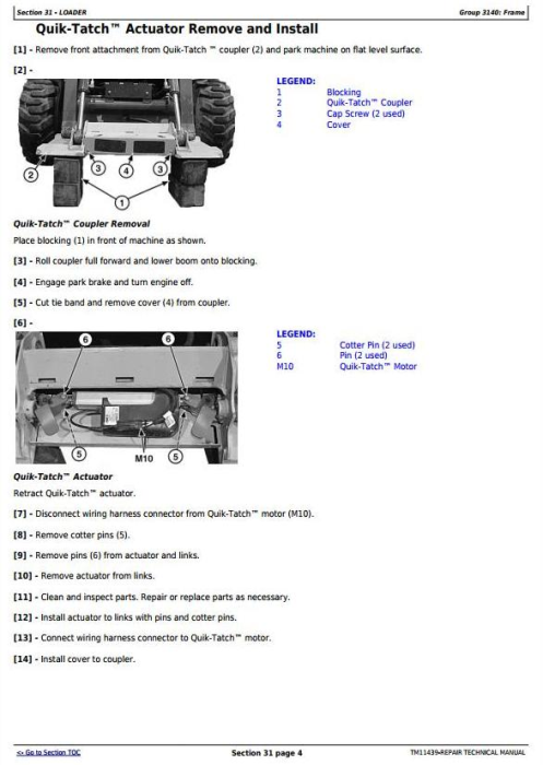 Third Additional product image for - John Deere 326D, 328D, 329D, 332D, 333D Skid Steer Loader with EH Controls Repair Manual (TM11439)