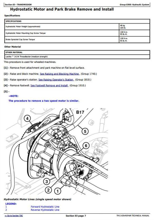 Fourth Additional product image for - John Deere 326D, 328D, 329D, 332D, 333D Skid Steer Loader with EH Controls Repair Manual (TM11439)