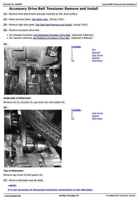 Second Additional product image for - John Deere 328E, 329E, 332E, 333E Skid Steer and Compact Track Loaders Service Repair Manual TM12808