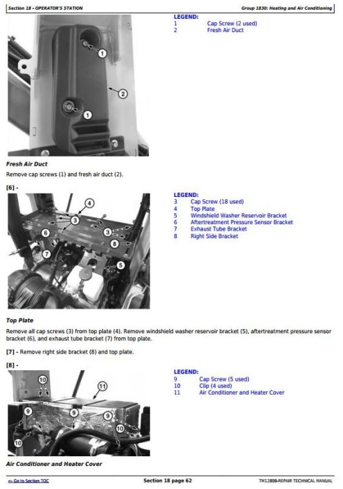 Third Additional product image for - John Deere 328E, 329E, 332E, 333E Skid Steer and Compact Track Loaders Service Repair Manual TM12808