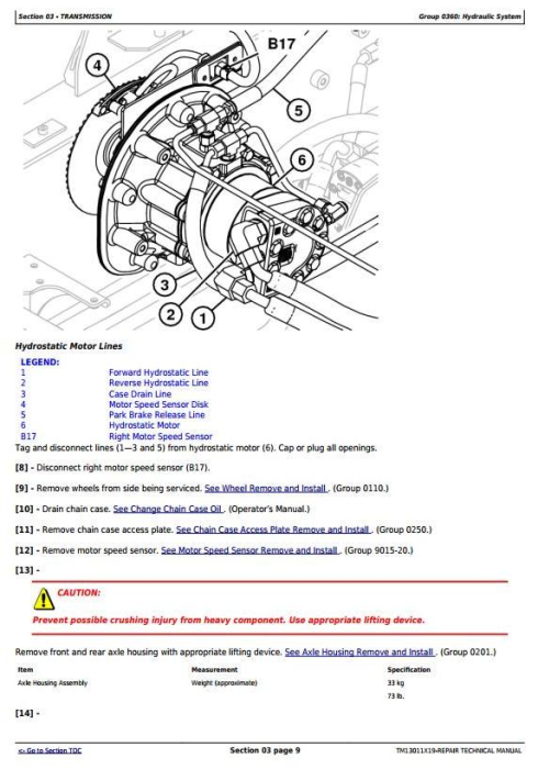 Third Additional product image for - John Deere 318E, 319E, 320E, 323E Skid Steer & Compact Track Loaders (EH) Repair Manual (TM13011X19)