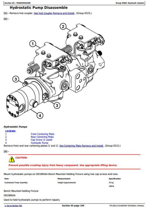 Fourth Additional product image for - John Deere 318E 319E 320E 323E Skid Steer & Compact Track Loader (Man.Ctrl) Repair Manual TM13012X19