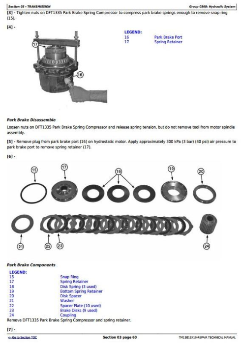 Second Additional product image for - John Deere 318E, 319E, 320E, 323E Skid Steer & Compact Track Loader (EH) Repair Manual (TM13013X19)